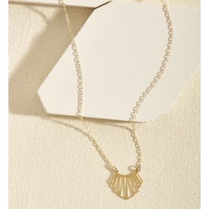 Gold necklace from Modcloth!
